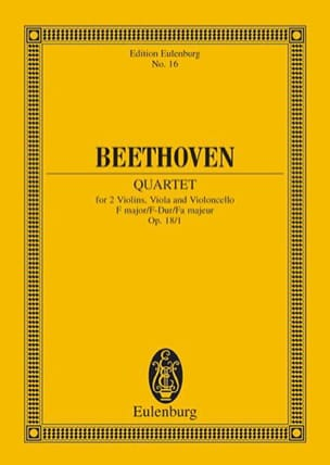 Ludwig van Beethoven - Streichquartett F-Dur Op. 18/1 –Partitur - Partition - di-arezzo.fr