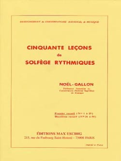 Noël Gallon - 50 Rhythmic Solfeggio Lessons Volume 1 - Sheet Music - di-arezzo.com