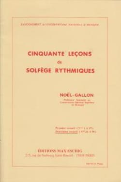 Noël Gallon - 50 Lessons from Rhythmic Solfeggio Volume 2 - Sheet Music - di-arezzo.co.uk