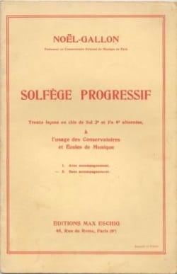 Noel-Gallon - Solfège progressif 2 clés sans accompagnement - Sheet Music - di-arezzo.com