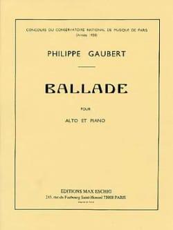 Philippe Gaubert - Ballade - Alto piano - Sheet Music - di-arezzo.com