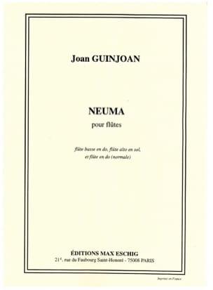 Neuma Joan Guinjoan Partition Flûte traversière - laflutedepan