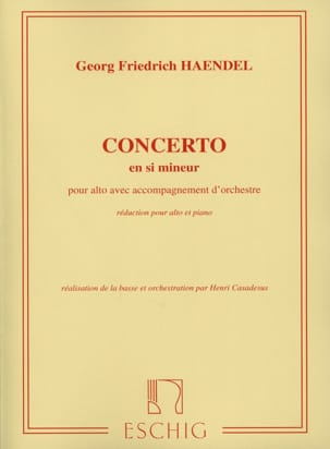 HAENDEL - Concerto Alto in B minor - Sheet Music - di-arezzo.com