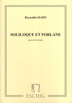 Soliloque et Forlane - Reynaldo Hahn - Partition - laflutedepan.com