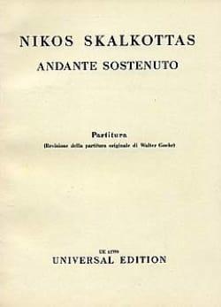 Andante sostenuto - Nikos Skalkottas - Partition - laflutedepan.com