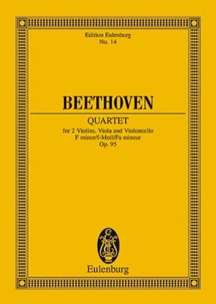 Streichquartett F-moll op. 95 -Partitur BEETHOVEN laflutedepan