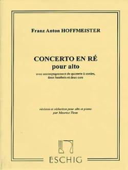 Franz Anton Hoffmeister - Alto Concerto - Sheet Music - di-arezzo.co.uk