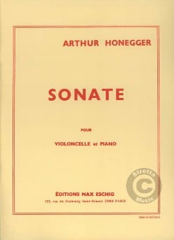 Arthur Honegger - Sonate - Cello - Sheet Music - di-arezzo.com