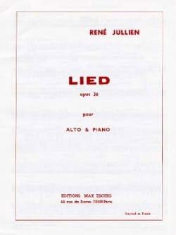 René Jullien - Lied op. 36 - Partition - di-arezzo.fr