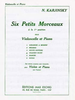 N. Karjinsky - Russian song n ° 4 of the 6 Petits Morceaux - Sheet Music - di-arezzo.com