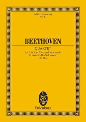 Streichquartett G-Dur op. 18/2 - Conducteur - laflutedepan.com