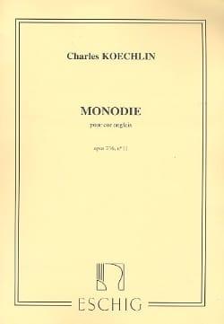 Charles Koechlin - Monodie op. 216 n° 11 - Partition - di-arezzo.fr