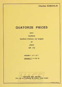 14 Pièces op.179 - Volume 2 Charles Koechlin Partition laflutedepan