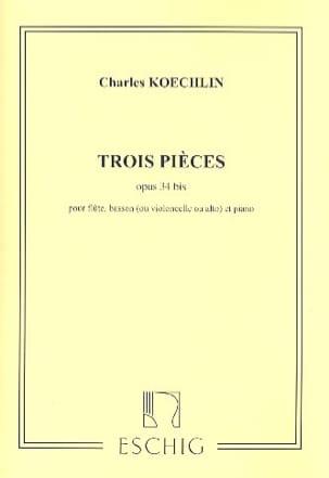 3 Pièces Op. 34 Bis Charles Koechlin Partition Trios - laflutedepan
