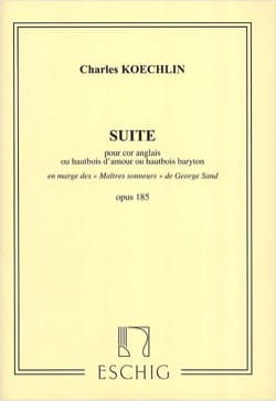 Suite - Opus 185 Charles Koechlin Partition Clarinette - laflutedepan