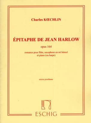 Charles Koechlin - Epitaph by Jean Harlow op. 164 - Sheet Music - di-arezzo.co.uk