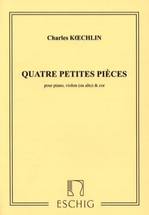 Charles Koechlin - 4 Small rooms - Sheet Music - di-arezzo.com