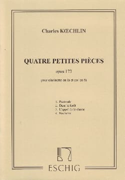 Charles Koechlin - 4 Small parts op. 173 - Sheet Music - di-arezzo.com