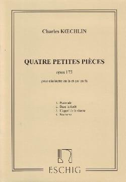 Charles Koechlin - 4 Petites pièces op. 173 - Partition - di-arezzo.fr