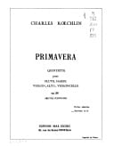 Charles Koechlin - Primavera op. 156 - Driver - Sheet Music - di-arezzo.co.uk