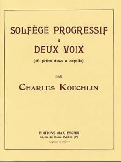 Charles Koechlin - Solfège progressif à 2 voix - Partition - di-arezzo.fr