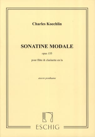 Charles Koechlin - Modal Sonatine op. 155 - Sheet Music - di-arezzo.co.uk