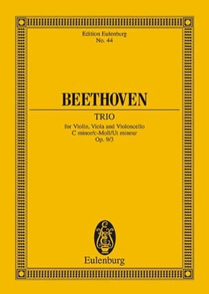 Ludwig van Beethoven - Streich-Trio C-Moll, Op. 9/3 (Do Min.) - Conducteur - Partition - di-arezzo.fr