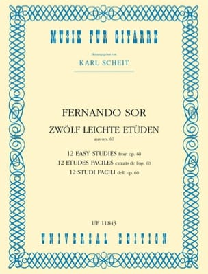 Fernando Sor - 12 leichte Etüden aus op. 60 - Sheet Music - di-arezzo.co.uk