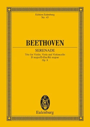BEETHOVEN - Serenade D-Dur, Op. 8 - Conducteur - Partition - di-arezzo.fr
