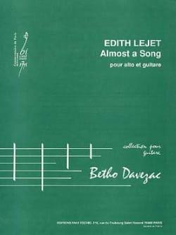Almost a Song - Edith Lejet - Partition - Duos - laflutedepan.com