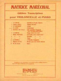 Liebestraum Liszt Franz / Maréchal Maurice Partition laflutedepan