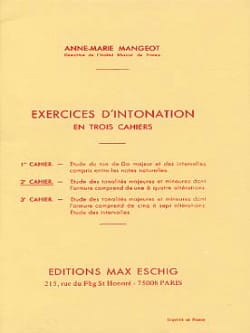 Anne-Marie Mangeot - Exercices d'intonation - Cahier 2 - Partition - di-arezzo.fr