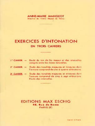 Anne-Marie Mangeot - Intonation Exercises - Book 3 - Partition - di-arezzo.co.uk
