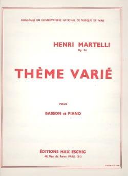 Henri Martelli - Thème varié - Partition - di-arezzo.fr