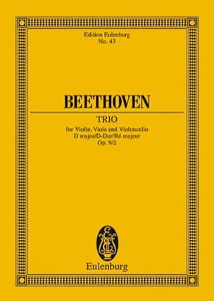BEETHOVEN - Streich-Trio D-Dur, op. 9/2 D-Dur - Partition - di-arezzo.fr