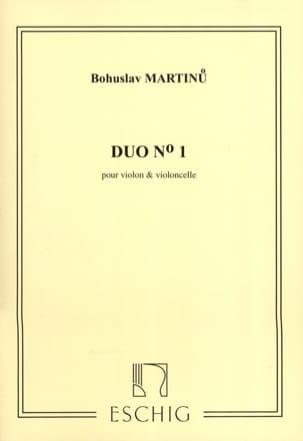 Bohuslav Martinu - Duo n° 1 - Violon violoncelle - Partition - di-arezzo.fr