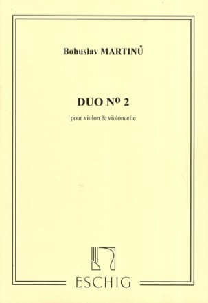 Duo n° 2 - Violon violoncelle MARTINU Partition 0 - laflutedepan