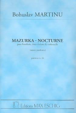 Mazurka - Nocturne - Conducteur - Bohuslav Martinu - laflutedepan.com