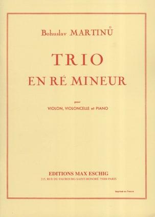 Trio en ré mineur - Bohuslav Martinu - Partition - laflutedepan.com