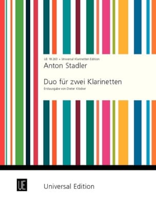 Anton Stadler - Duo für 2 Klarinetten - Sheet Music - di-arezzo.co.uk