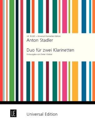 Duo für 2 Klarinetten Anton Stadler Partition laflutedepan