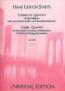 Hans Ulrich Staeps - Chorisches Quintett for Blockflöten oder verschiedene Blas- und Streichinstrumen - Sheet Music - di-arezzo.com