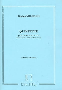 Darius Milhaud - Quintet for wind instruments - Conductor - Partition - di-arezzo.co.uk