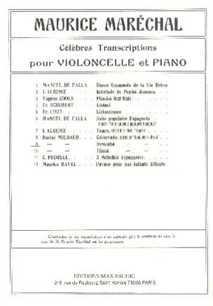 Sorocaba - Darius Milhaud - Partition - Violoncelle - laflutedepan.com