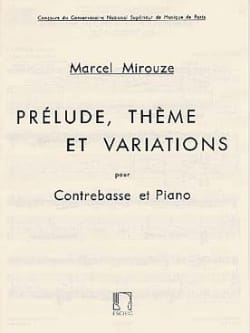Marcel Mirouze - Prelude, theme and variations - Sheet Music - di-arezzo.co.uk