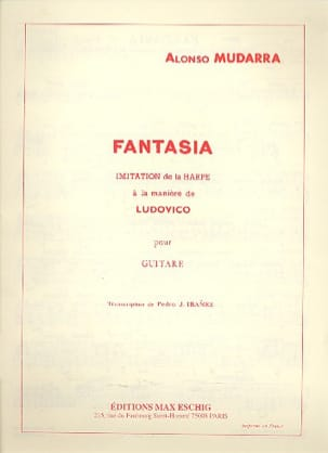 Fantasia - Guitare Alonso Mudarra Partition Guitare - laflutedepan