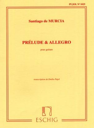 Prelude Et Allegro Santiago De Murcia Partition Guitare - laflutedepan