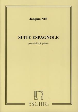 Suite espagnole - Violon guitare Joaquin Nin Partition laflutedepan