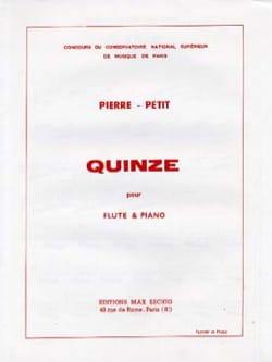 Quinze - Petit Pierre - Partition - laflutedepan.com