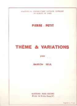 Thème et Variations - Pierre-Petit - Partition - laflutedepan.com